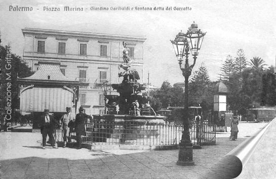 Piazza Marina fontana 1908