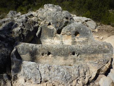 Una de las Pilillas donde se elaboraba vino hace 2700 años.